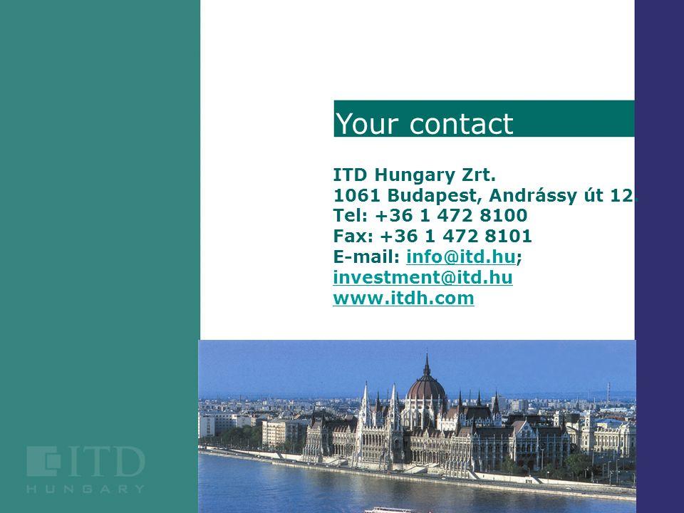 ITD Hungary Zrt. 1061 Budapest, Andrássy út 12.