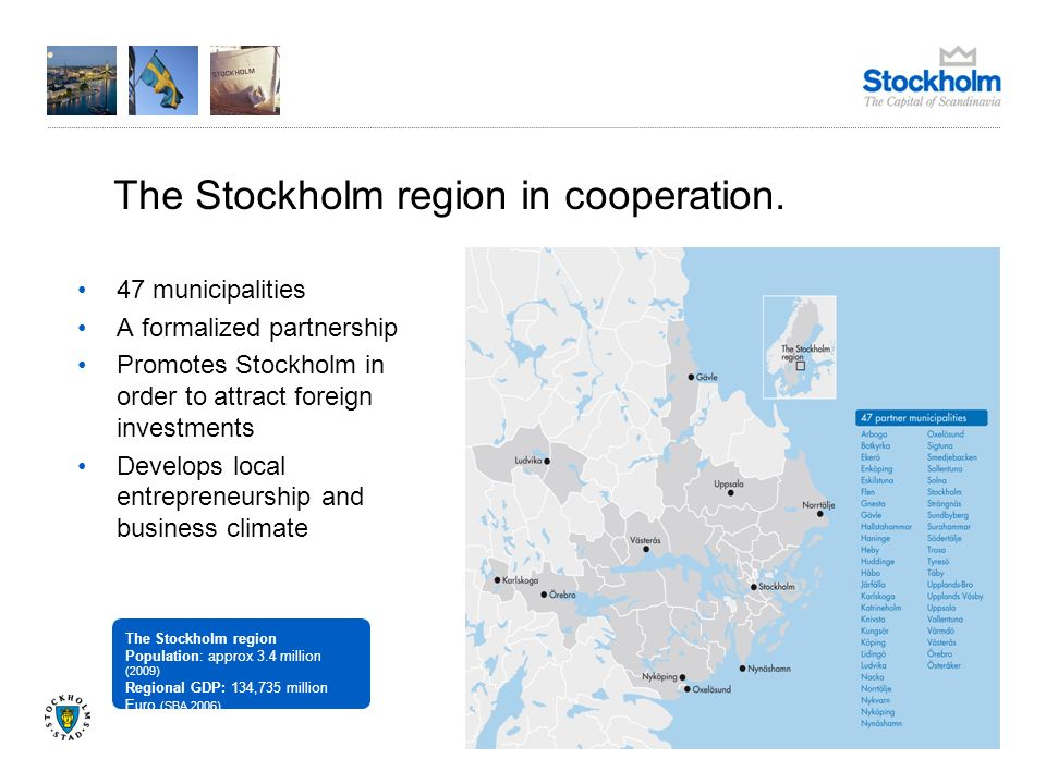 The Stockholm region in cooperation.