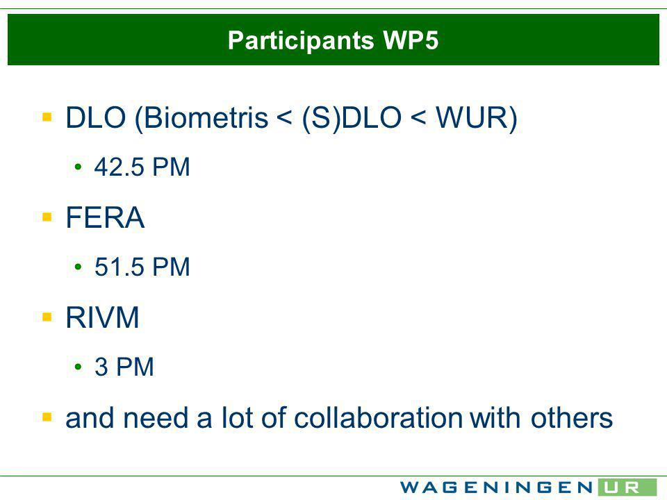 How we see WP 5 in the project....