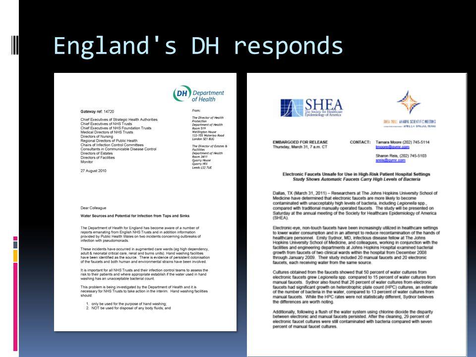 England's DH responds