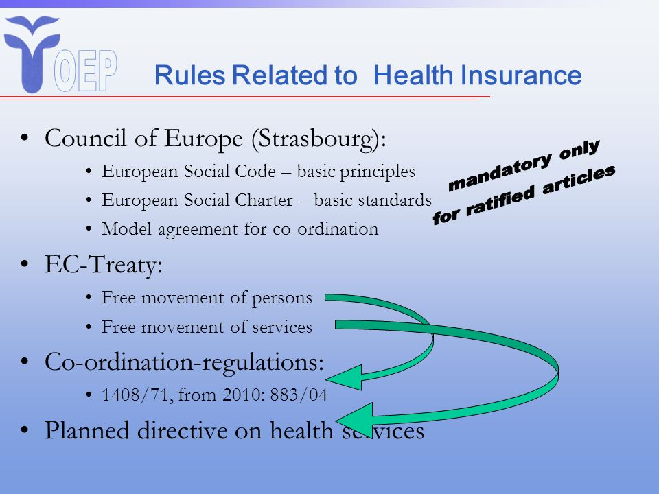 Co-ordination of Social Security in the EU Co-ordination = Harmonisation Means: EC-Treaty (Art.