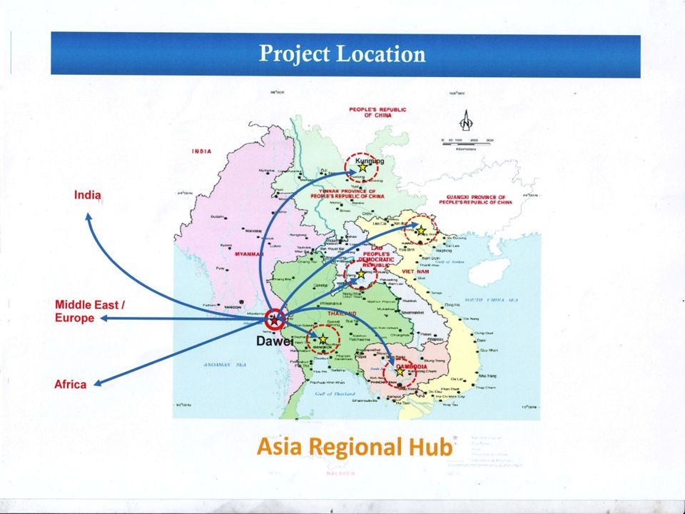 Dawei East West Economic Corridor Southern Economic Corridor