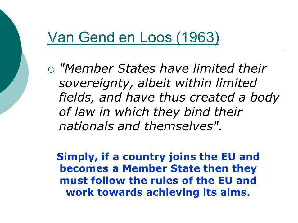 Van Gend en Loos (1963)