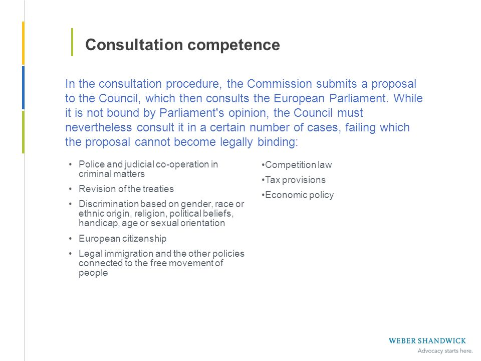 Consultation competence Police and judicial co-operation in criminal matters Revision of the treaties Discrimination based on gender, race or ethnic o