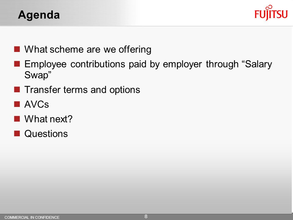 Your pension going forward with Fujitsu Copyright 2010 Fujitsu Services Limited July 2010 Pension Presentation