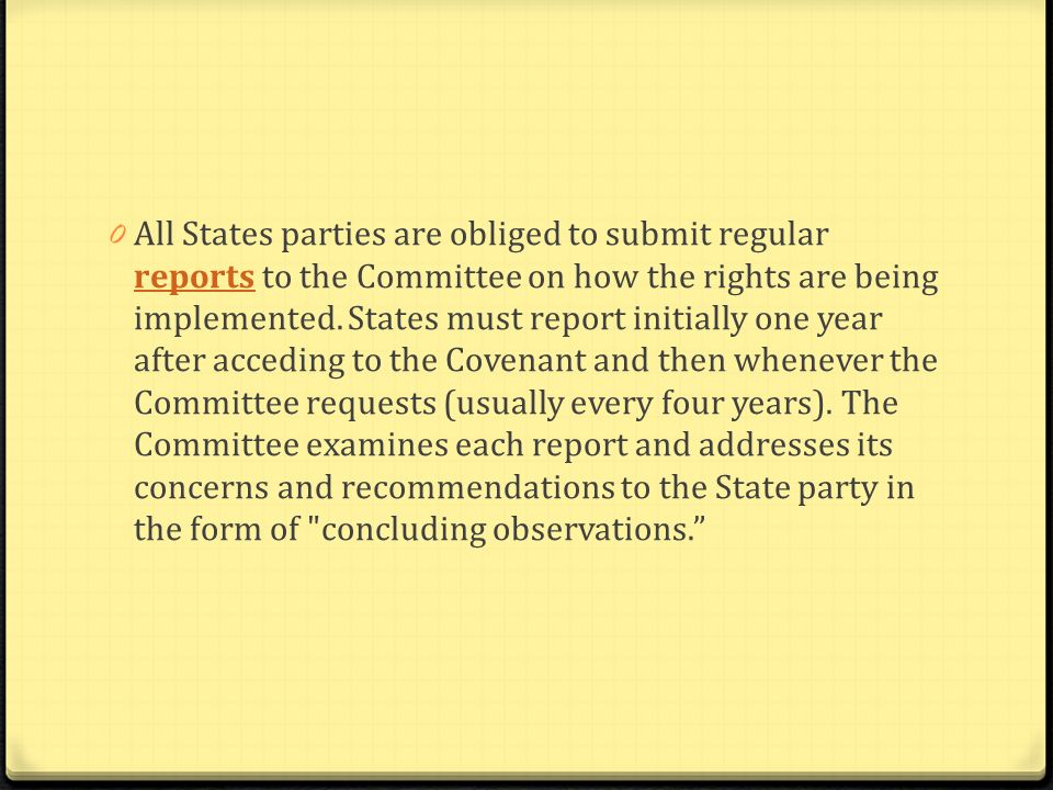 0 The Committee meets in Geneva or New York 0 The Committee also publishes its interpretation of the content of human rights provisions, known as general comments on thematic issues, or its methods of work.general comments on thematic issues