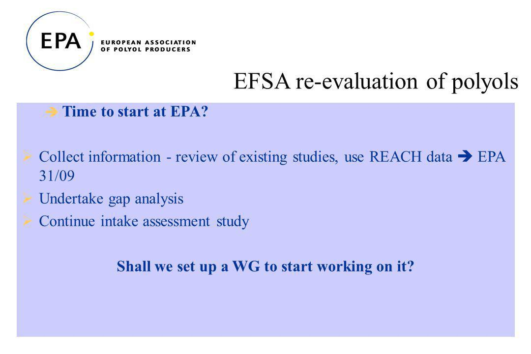 22 EFSA re-evaluation of polyols Time to start at EPA.