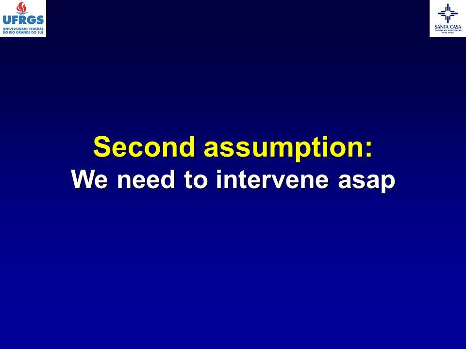 Second assumption: We need to intervene asap