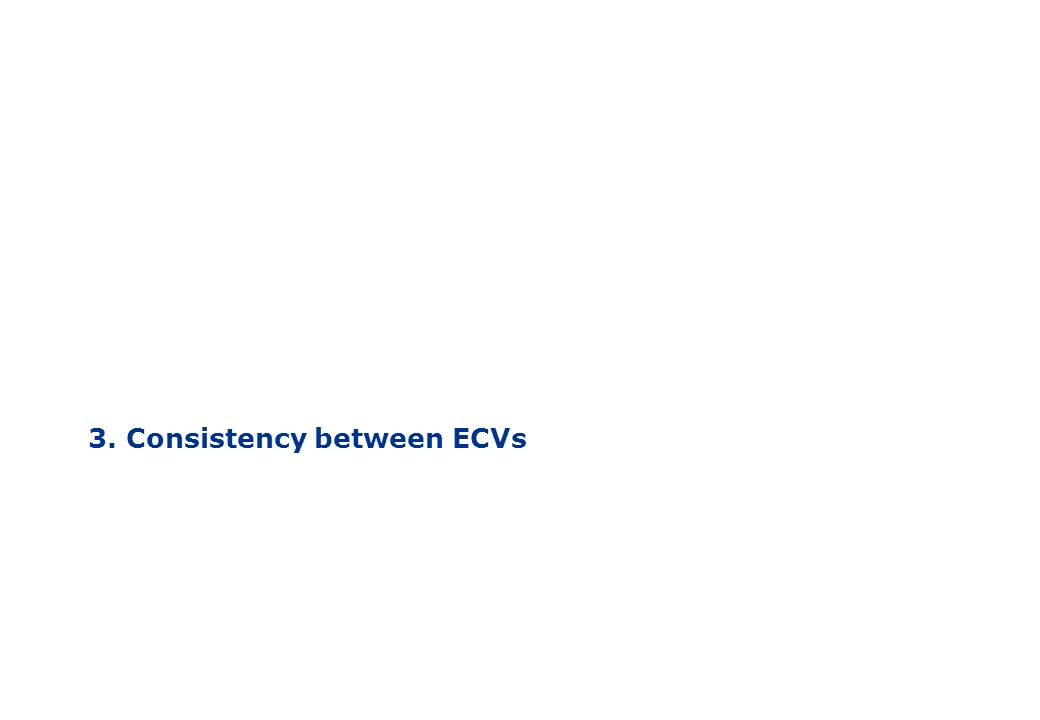 3. Consistency between ECVs