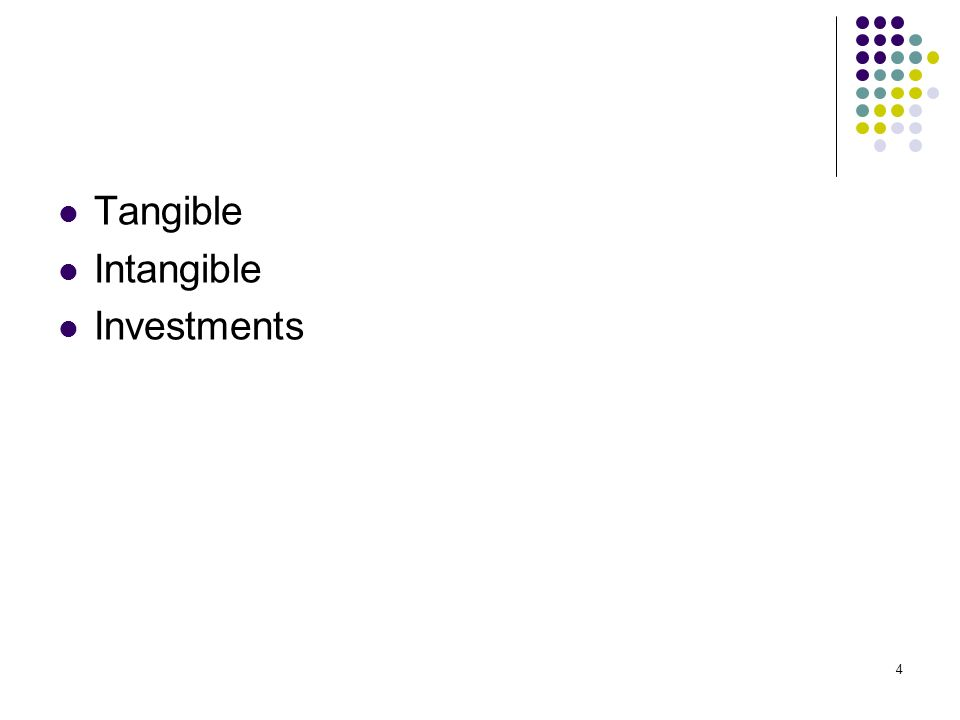 4 Tangible Intangible Investments
