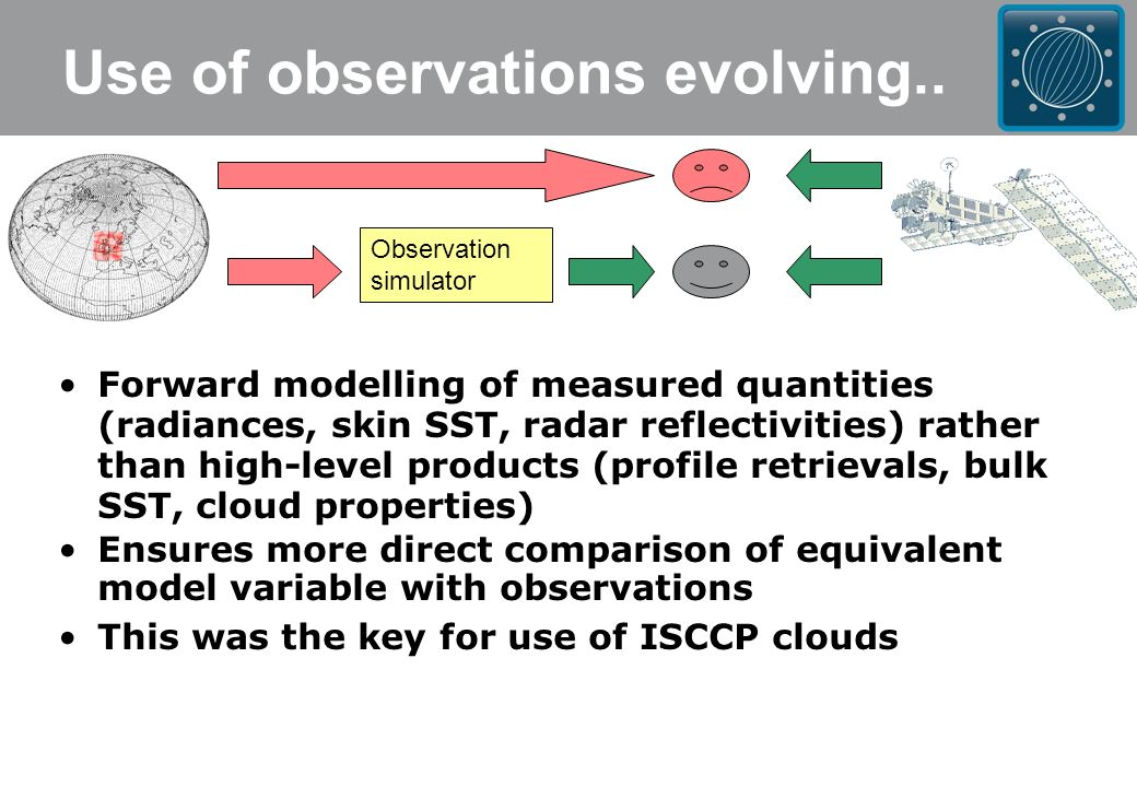 Use of observations evolving..