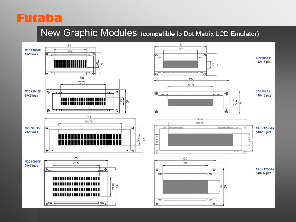 New Graphic Modules (compatible to Dot Matrix LCD Emulator)