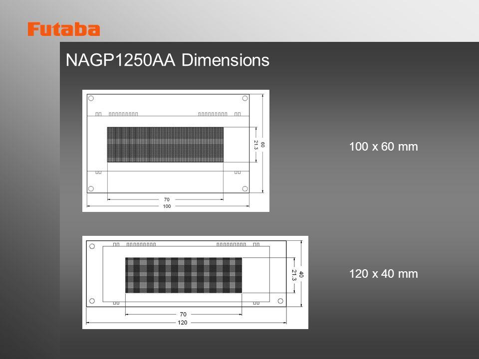 NAGP1250AA Dimensions 100 x 60 mm 120 x 40 mm