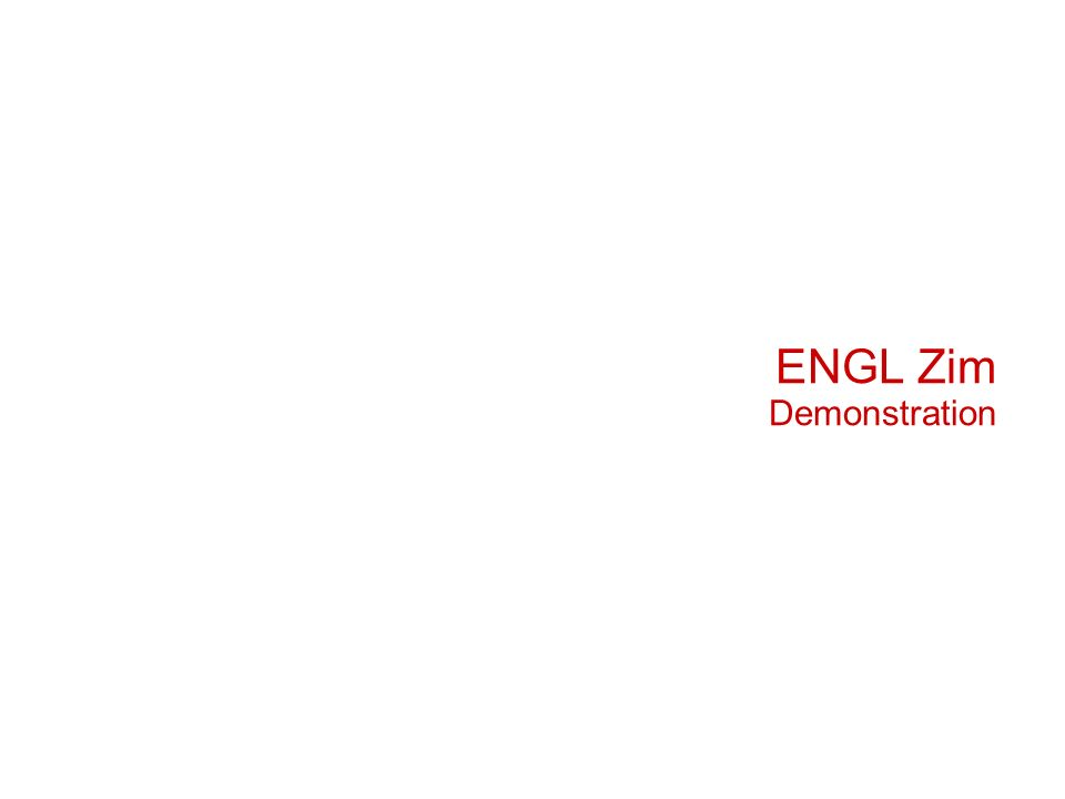 ENGL Zim Demonstration