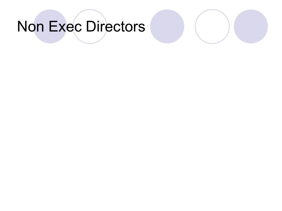 Non Exec Directors