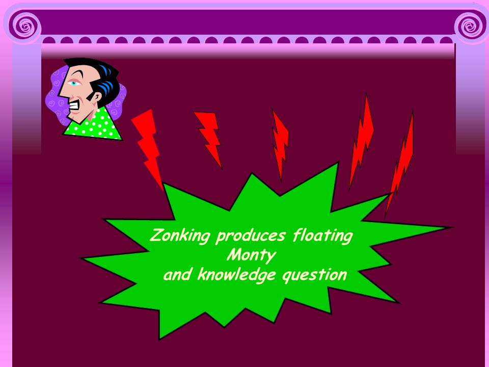 Zonking produces floating Monty and knowledge question