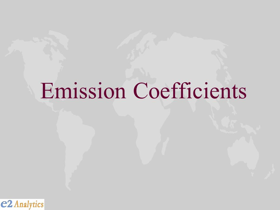 Emission Coefficients