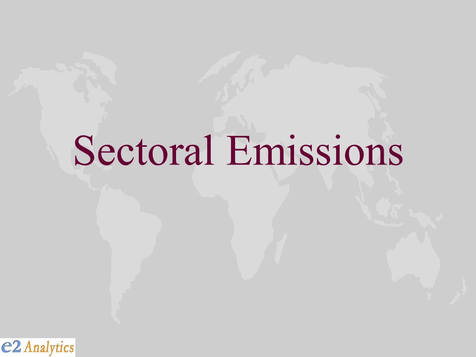 Sectoral Emissions
