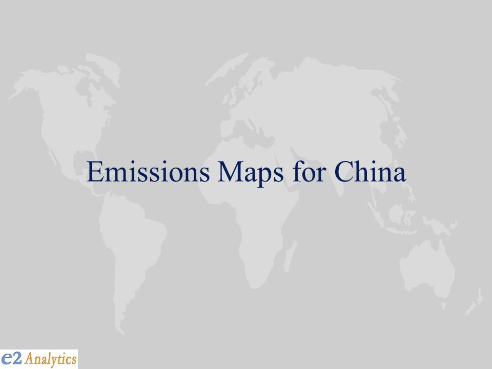 Emissions Maps for China