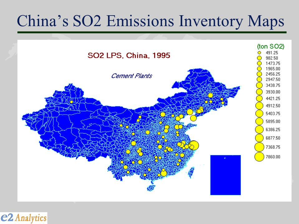 Chinas SO2 Emissions Inventory Maps