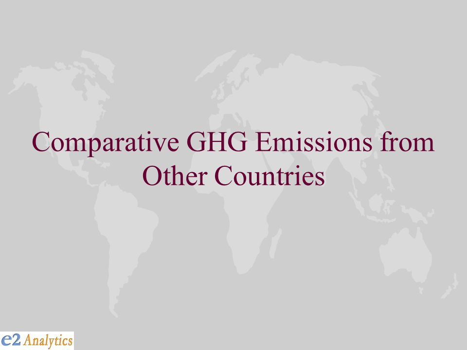 Comparative GHG Emissions from Other Countries