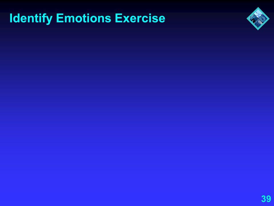 39 Identify Emotions Exercise