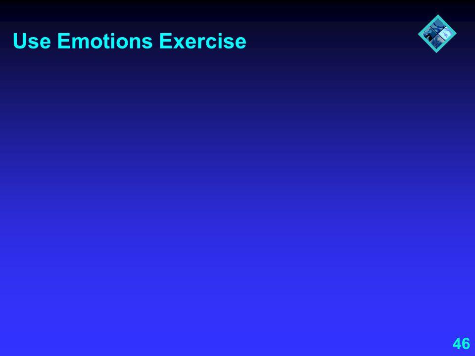 46 Use Emotions Exercise