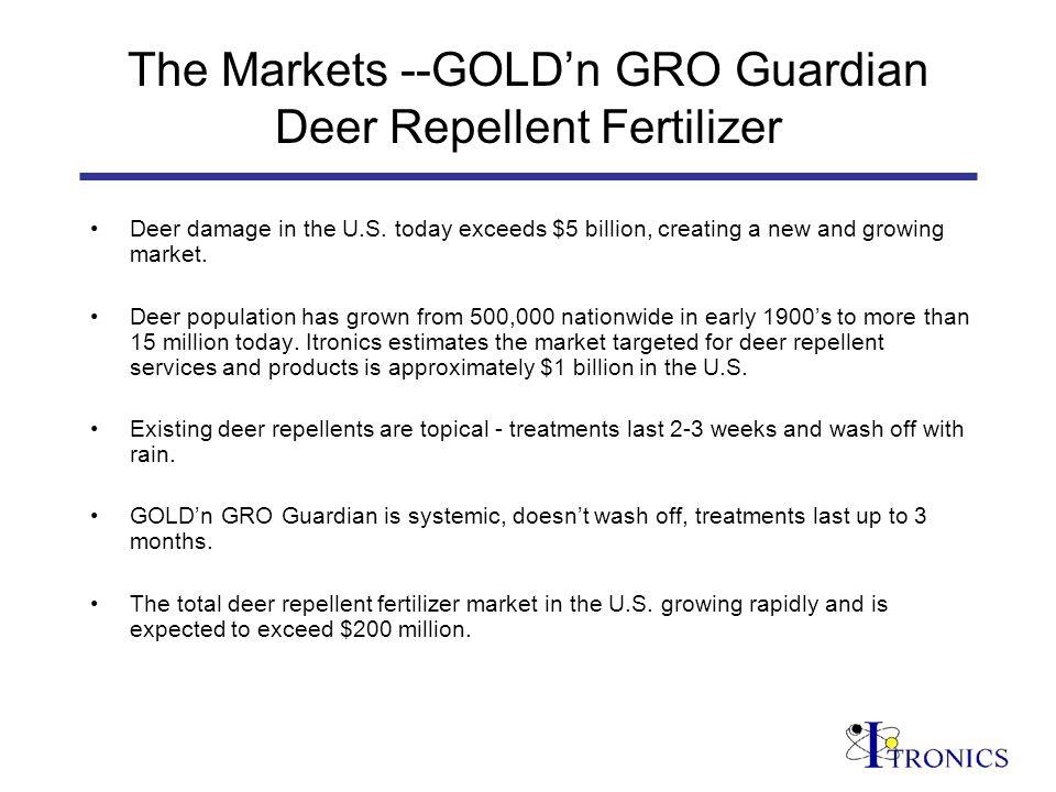 The Markets --GOLDn GRO Guardian Deer Repellent Fertilizer Deer damage in the U.S.