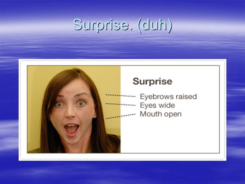 Surprise. (duh)