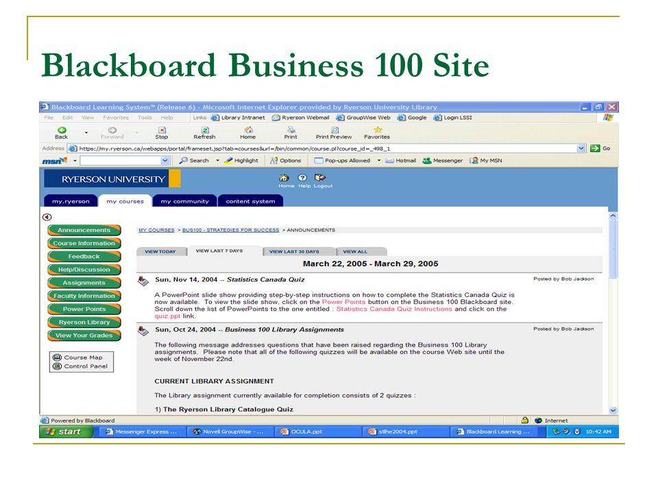 Blackboard Business 100 Site