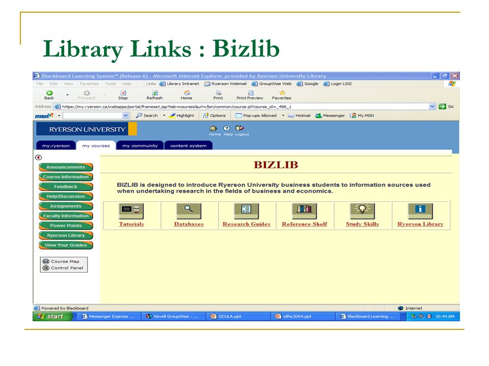 Library Links : Bizlib