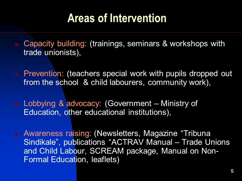 6 Starting activities ICFTU (ITUC), EI campaigns ICFTU (ITUC), EI programs (1998-2000) October 2004: - Survey on ChL in Albania, S.