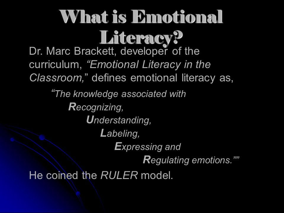 What is Emotional Literacy.Dr.
