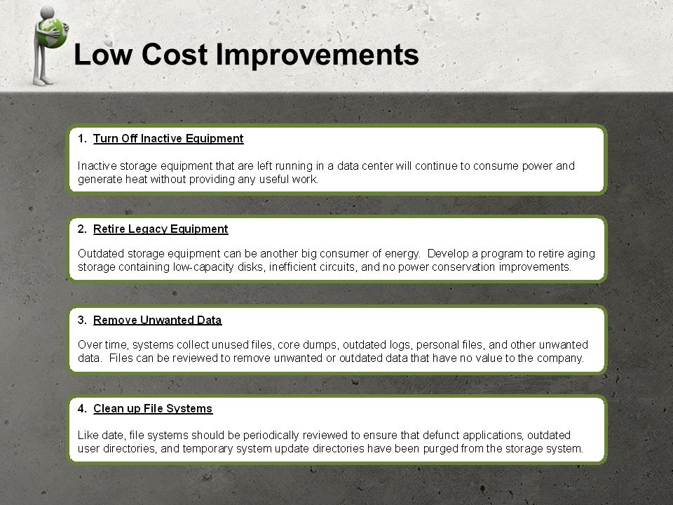 Low Cost Improvements