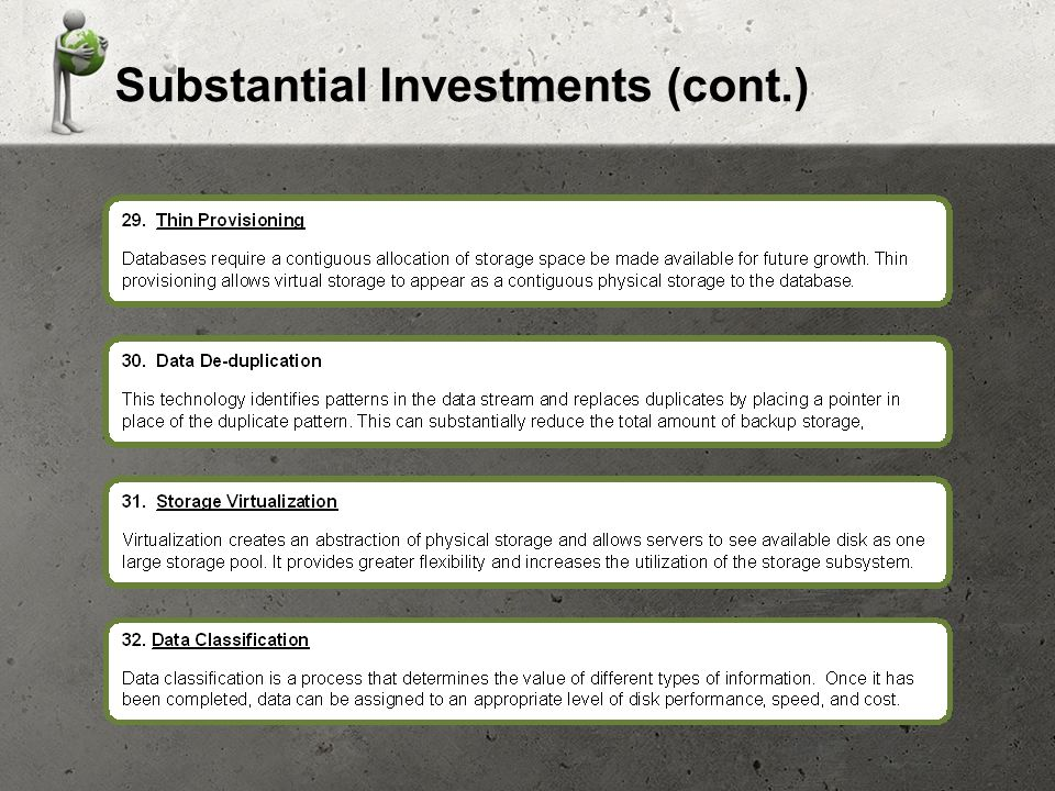 Substantial Investments (cont.)