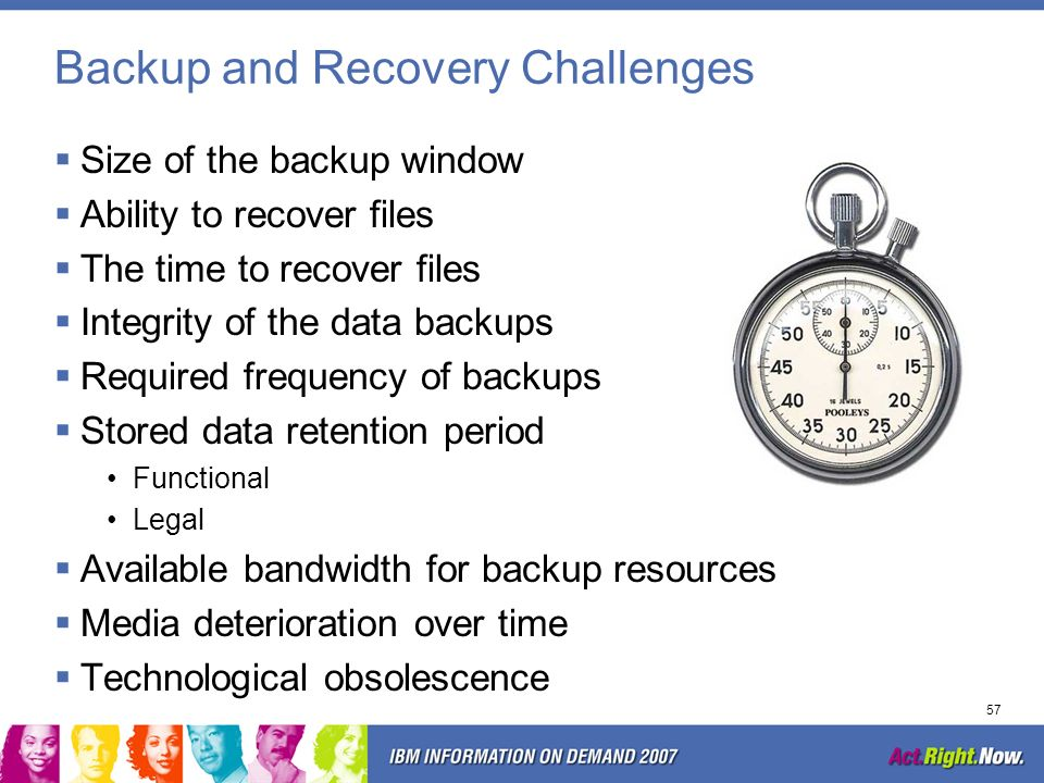 56 Backup and Recovery