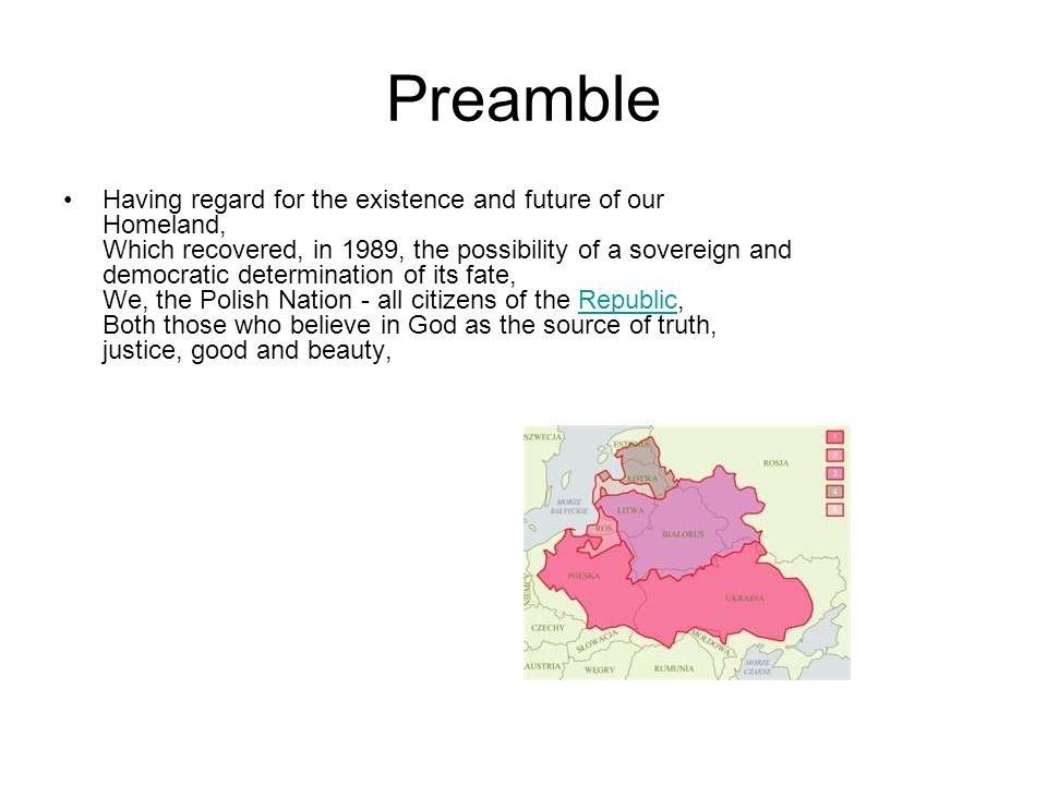 Preamble Having regard for the existence and future of our Homeland, Which recovered, in 1989, the possibility of a sovereign and democratic determina