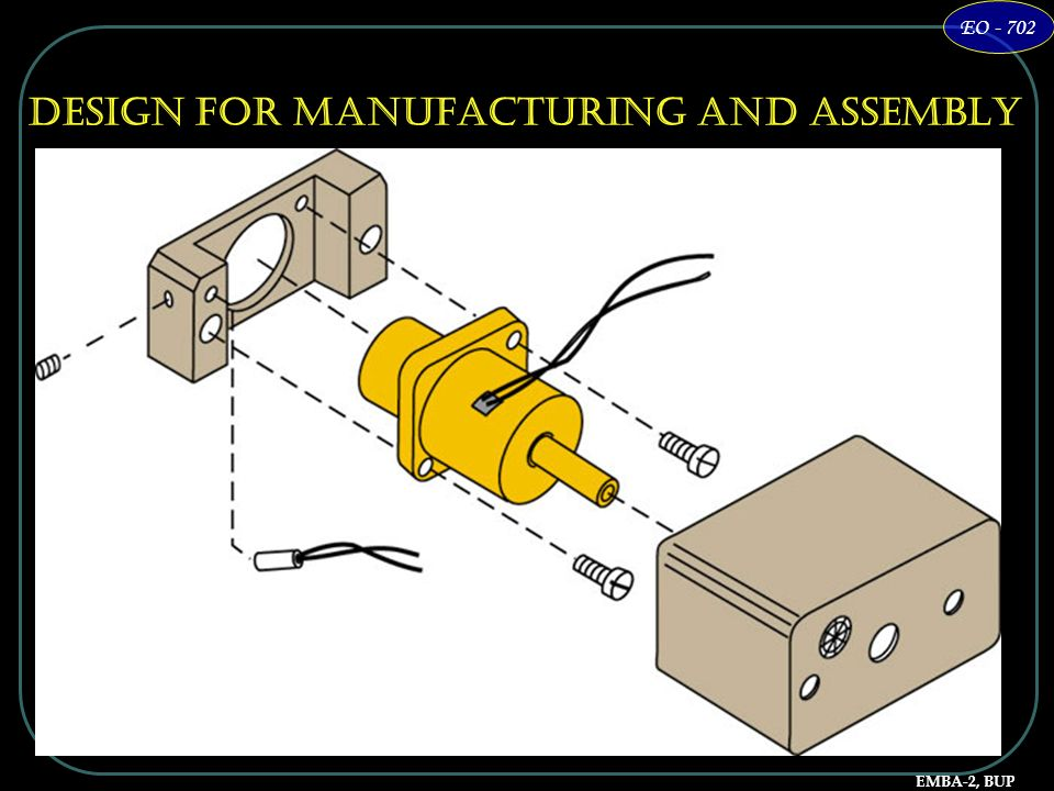 EMBA-2, BUP EO - 702 Design for Manufacturing and Assembly