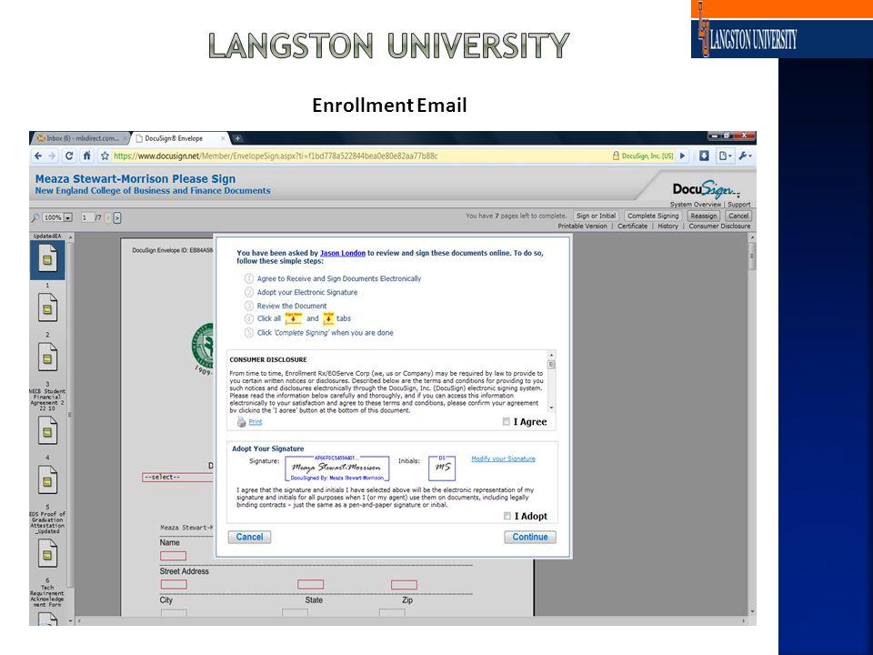 Enrollment Email