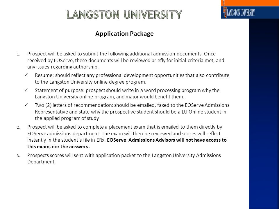 Application Package 1.