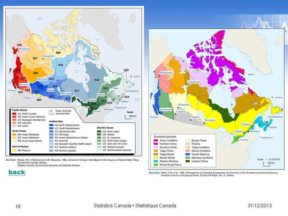 31/12/2013 Statistics Canada Statistique Canada 18 back