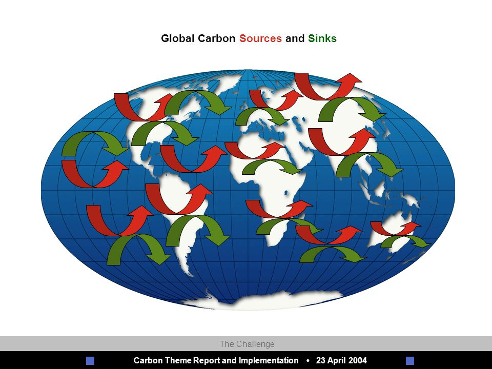 Carbon Theme Report and Implementation 23 April 2004 Global Carbon Sources and Sinks The Challenge