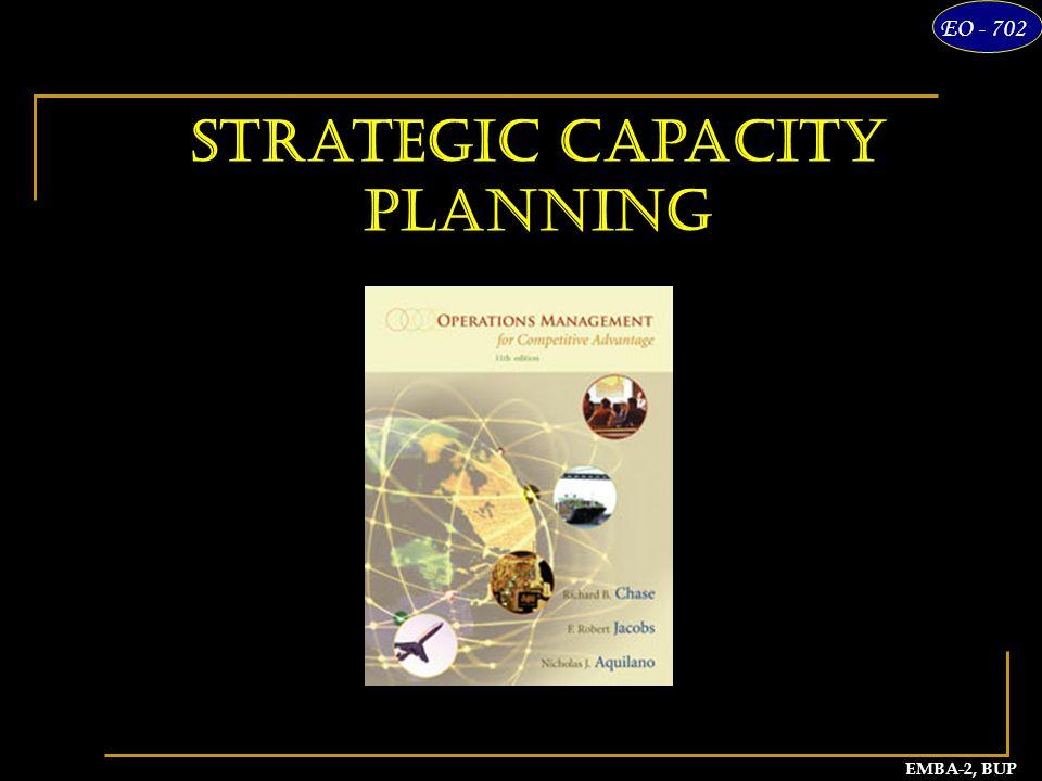 1 EMBA-2, BUP EO - 702 Strategic Capacity Planning