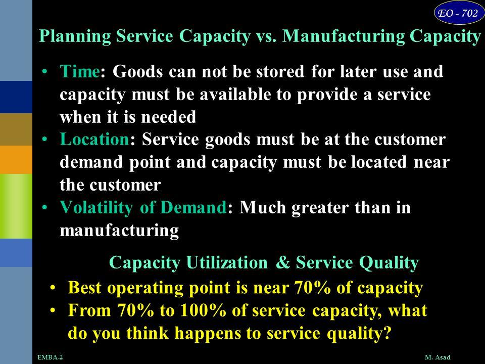 EO - 702 M.AsadEMBA-2 Planning Service Capacity vs.
