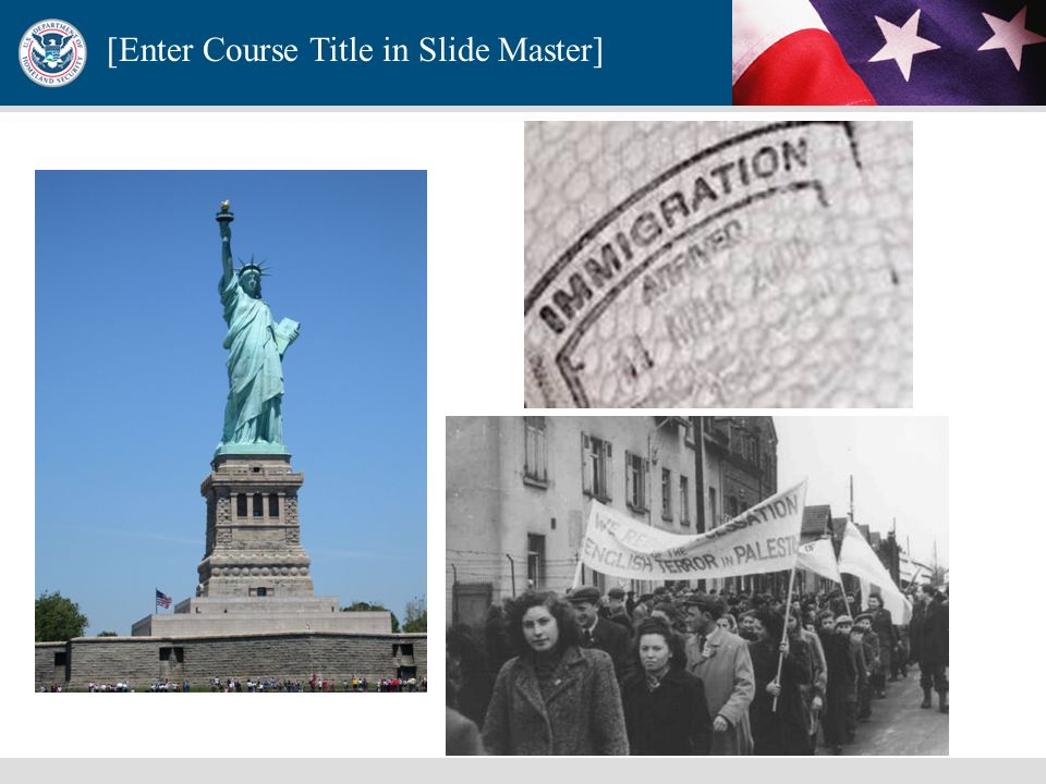 [Enter Course Title in Slide Master] Directive 2- Combating Terrorism Through Immigration Policies The aim of Homeland Security Presidential Directive