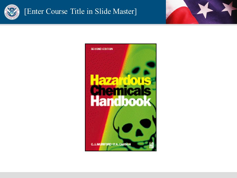 [Enter Course Title in Slide Master] Chemical