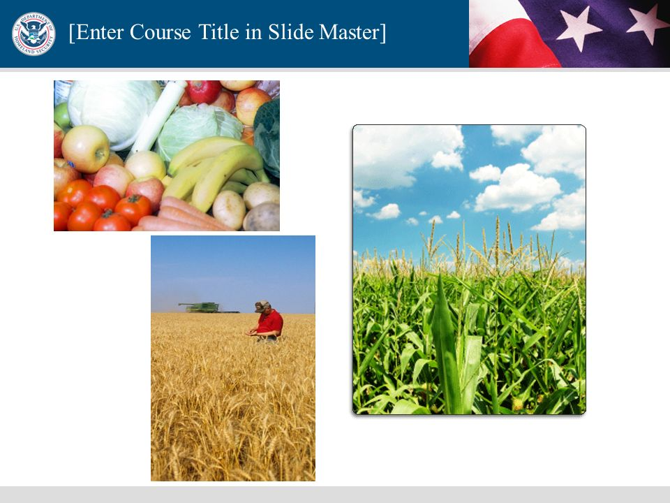 [Enter Course Title in Slide Master] Directive 9-Defense of the United States Agriculture and Food Homeland Security Presidential Directive (HSPD) 9 e
