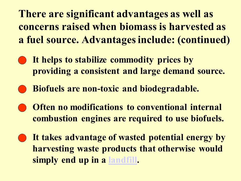 Disadvantages of alcohol fuels include: (continued) (continued) Lower energy content: Ethanol contains less energy for a given volume than does gasoline (83,333 Btu per gallon versus 124,800 Btu).