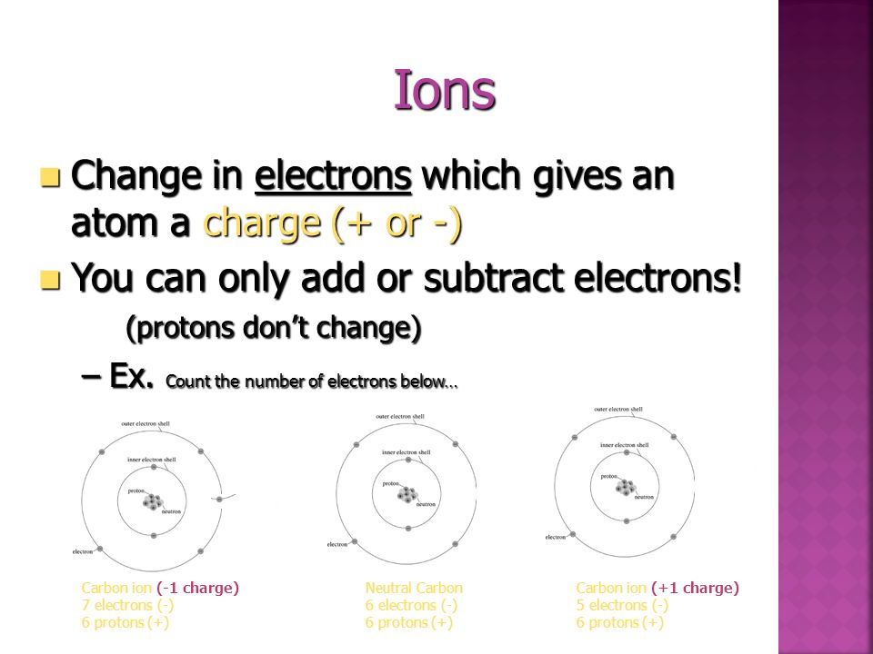 Isotopes An isotope is a variation of an element (same protons) but can have diff. # of neutrons An isotope is a variation of an element (same protons