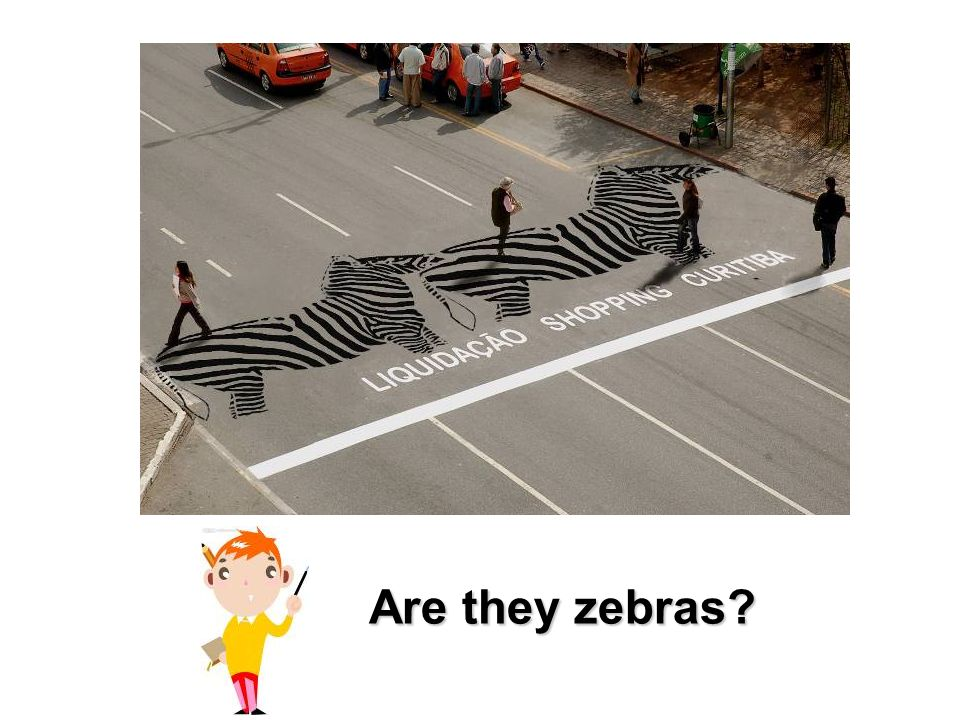 Look at the ____. It's _____________. zebra black and white
